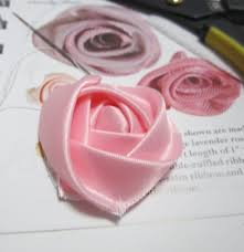 silk ribbon roses ravings of a mad crafter how to make a flat ribbon