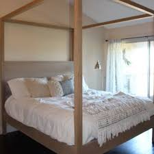 Modern Canopy Bed Frame Beds Bed Frames And Headboards Custommade