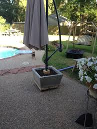 Offset Patio Umbrella With Base Cement Umbrella Stand Learn To Diy