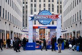 Nbc Election Map by Nyc Nyc Rockefeller Center Turns Into Democracy Plaza