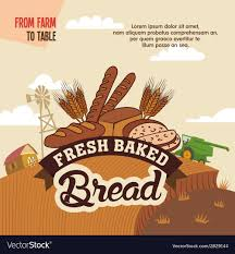 from farm to table fresh baked bread from farm to table royalty free vector