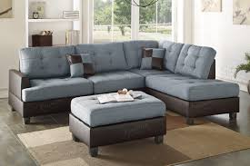 Grey Leather Sectional Sofa Grey Leather Sectional Sofa And Ottoman A Sofa Furniture