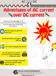 advantages of ac current over dc current there are many advantages