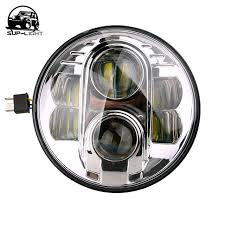 pair 7 80w sealed beam led projector headlights for land rover
