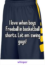 swing guys when boys freeball in basketball shorts let em swing guys