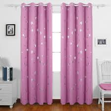 Light Pink Blackout Curtains Blackout Curtain Star Light Pink For Childrens Room Amazon Co Uk