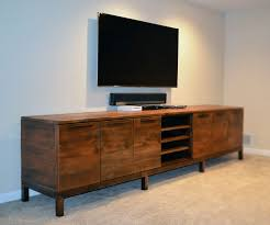 Media Center Furniture by Handmade Reclaimed Wood Media Center Console By Abodeacious