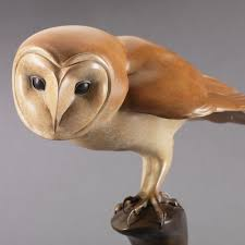 Barn Owl Sounds Barn Owl Bronze Sculpture By Nick Bibby