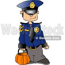 Boys Police Officer Halloween Costume Wearing Police Officer Costume Halloween Clipart Djart 4346