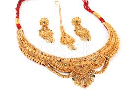 gold necklace with earrings images Traditional indian gold necklace earrings stock photos jpg