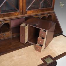 bureau writing desk antique bureau bookcase late georgian mahogany writing