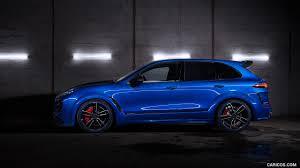 2017 porsche cayenne turbo s 2016 techart magnum sport based on porsche cayenne turbo s side