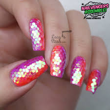 nailvengers assemble glitter placement nail art lucy u0027s stash