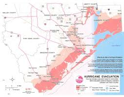 map houston harris county chambers harris county tx hurricane risk area map