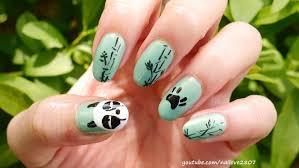 sleepy panda nail art tutorial genma saotome nails youtube