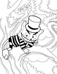 cheshire cat coloring page handipoints