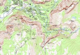Map Of Yosemite Map Extract For Glacier Point Photos Diagrams U0026 Topos Summitpost