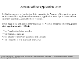 Resume For Airport Jobs by Accountofficerapplicationletter 140917032958 Phpapp02 Thumbnail 4 Jpg Cb U003d1410924628