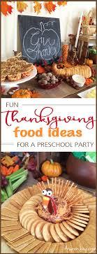 thanksgiving food ideas for a preschool themed