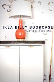 ikea billy bookcase hack with a raw edge cherry top dock cleat