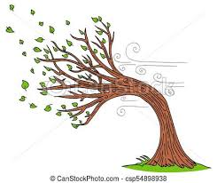 an image of a blowing wind windy day tree vectors search