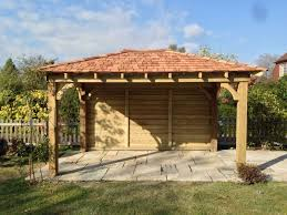 wooden gazebo 3m x 3m car port with cedar shingles built to order explore carport garage carport ideas and more