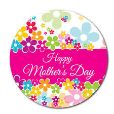 mothers day stickers happy s day stickers pink 30mm crafts and cardmaking