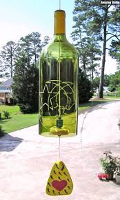 Upcycled Wine Bottles - recycled wine bottle wind chimes recycled things