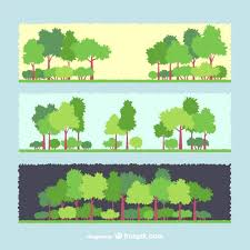 tree banners vector free