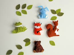 pattern felt ornaments 5 animals woodland mobile diy crib