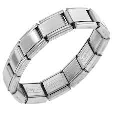 stainless charm bracelet images 20 link shiny starter italian charm chain bracelet men s stainless jpg