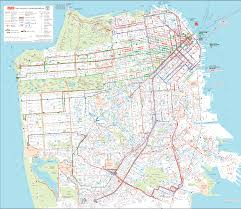 San Jose Bus Routes Map by San Francisco Public Transportation Map San Francisco U2022 Mappery
