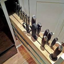 Under Cabinet Knife Holder by This Under Cabinet Knife Block Gives You A Simple Way To Store And