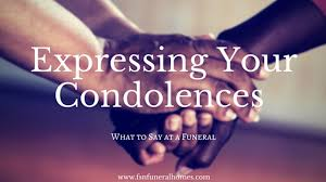 expressing your condolences fsn funeral homes