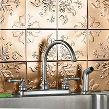 Kitchen Backsplash Stick On Tin Backsplash Tiles Tin Backsplash Kitchen Traditional With