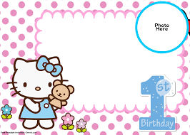 template for making birthday invitations free hello kitty 1st birthday invitation template drevio