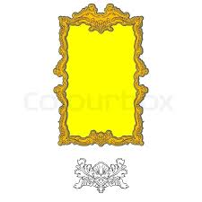 authentic rococo ornament frame for pictures and mirror with human