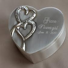 box personalized personalized flower girl jewelry box keepsake wedding favor
