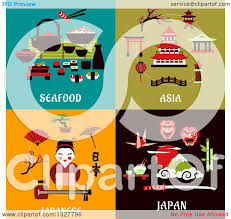 Japanese Designs Clipart Of Flat Design Seafood Asia And Japanese Designs