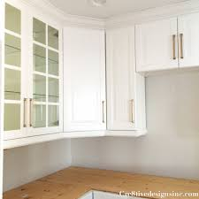 glass kitchen cabinet kitchen remodel using ikea cabinets cre8tive designs inc