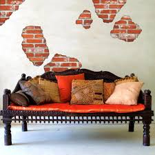 faux brick breakaway fabric wall decals peel and stick eco