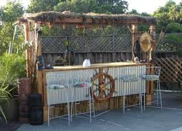 Beach  Tiki Bar Ideas For The Home  Backyard Completely Coastal - Tiki backyard designs
