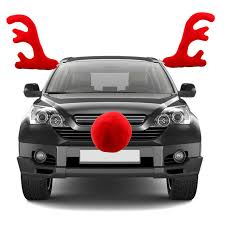 reindeer antlers for car christmas car decoration windows plush reindeer antlers and