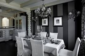 ideas for black and white dining room decorin