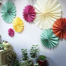 paper fans folding hanging paper fan for wedding buy hanging paper fan