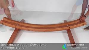 Hammock With Wooden Stand Sunnydaze Wooden Curved Arc Hammock Stand Wsn Whs Youtube