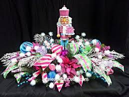 whimsical nutcracker christmas centerpiece candy floral table