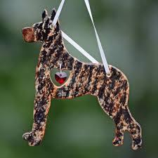 porcelain great dane ornament brindle big gentle dogs