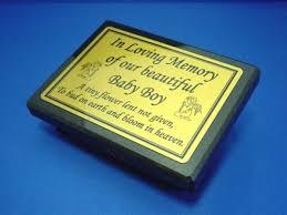baby plaques small black granite memorial plaque baby boy