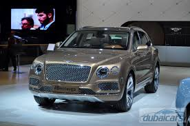 bentley suv 2015 interior list of car debuts at the dubai motor show 2015